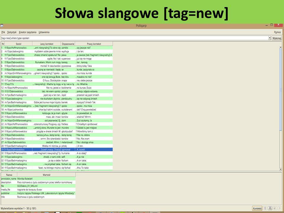 Słowa slangowe [tag=new]